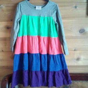 Hanna Andersson Girls Color Block Dress Sz110